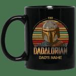 The Dadalorian Mandalorian Dad Custom Name Mug Vintage Style
