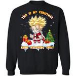 This Is My Christmas Anime Watching Shirt Trunks Of Dragon Ball Sweatshirt