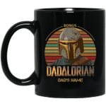 Bonus Dadalorian Mandalorian Step Dad Custom Name Mug Vintage Style