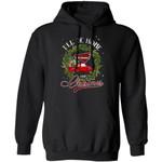 Xmas Hoodie I'll Be Home For Christmas North Carolina Hoodie Xmas Shirt