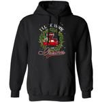Xmas Hoodie I'll Be Home For Christmas Louisiana Hoodie Xmas Shirt
