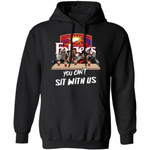 You Can't Sit With Us Horror Movies Characters Drink Folgers Hoodie