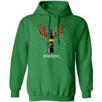 Winedeer Reindeer Yellow Tail Wine Hoodie Christmas Wine Hoodie Cool Xmas Gift