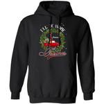 Xmas Hoodie I'll Be Home For Christmas Delaware Hoodie Xmas Shirt