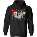 Yarns In The Christmas Lights Hoodie Lovely Xmas Gift For Knitting Lovers