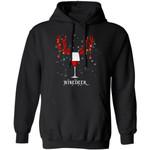 Winedeer Hoodie Reindeer Wine Christmas Hoodie Lovely Xmas Gift