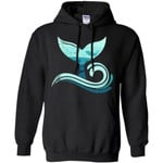 Whale Tail In Waves Orca Hoodie For Ocean and Earth Lover