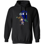 Rick And Morty Mixed Doctor Who Hoodie Funny Shirt Gift For Fan