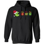 Xmas Hoodie Pacman Grinch Christmas Hoodie Funny Xmas Gift