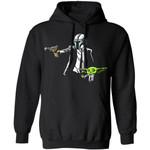 The Mandalorian Baby Yoda Mixed Pulp Fiction Hoodie Fan Gift Idea