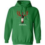 Winedeer Reindeer Great Wall Wine Hoodie Christmas Wine Hoodie Cool Xmas Gift