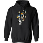 Snoopy And Ghibli Character Balloons Hoodie Mixed Fan Gift Idea