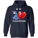 Valentine's Hoodie Be My Valentine Eeyore Hoodie Lovely Gift