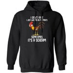 I Don't Fart I Just Whisper In My Pants Chicken Hoodie Funny Gift