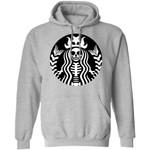 Mermaid Coffee Skeleton Hoodie Funny Starbucks Style