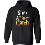 Couples Hoodie She's A Catch He's A Keeper Harry Potter Quidditch Hoodie