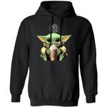 Baby Yoda Loves The Coffee Bean & Tea Leaf Hoodie