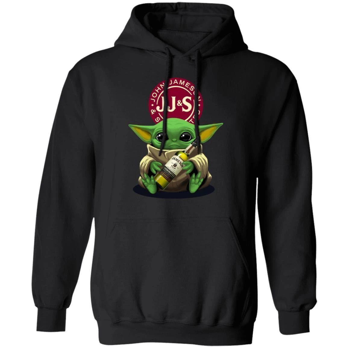 Baby Yoda Hugging Jameson Hoodie Whisky Shirt