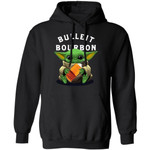 Baby Yoda Hugging Bulleit Hoodie Whisky Shirt