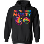 Rick And Morty Hoodie Rick And Morty Tie Dye Drip Graphic Hoodie