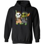 Jack Skellington & Baby Yoda Hoodie Funny Mixed Shirt Fan Gift