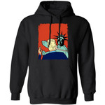 Trump Slapped By The Statue of Liberty Hoodie Funny Gift