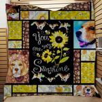 YOU ARE MY SUNSHINE BEAGLE QUILT BLANKET