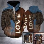 DL FRIESIAN HORSE LOVE LHB - 3D PRINT