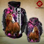 Quarter horse 3D printed hoodie CAZ