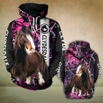 Clydesdale horse 3D printed hoodie CAZ