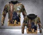 Friesian Horse 3D printed hoodie LVW
