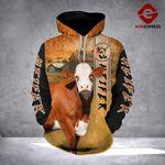 LDM SIMMENTAL COW 3D PRINTED HOODIE