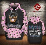 Rottweiler 3D printed hoodie JSO