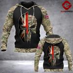 Soldier UK Camo 3d Printed HOODIE TT