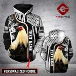 Personalized Rooster 3D printed hoodie FLD