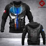 LMT FRENCH POLICE 3D printed hoodie DMM