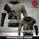 MTP CUSTOMIZE BRITISH ARMY  HOODIE  3D vv