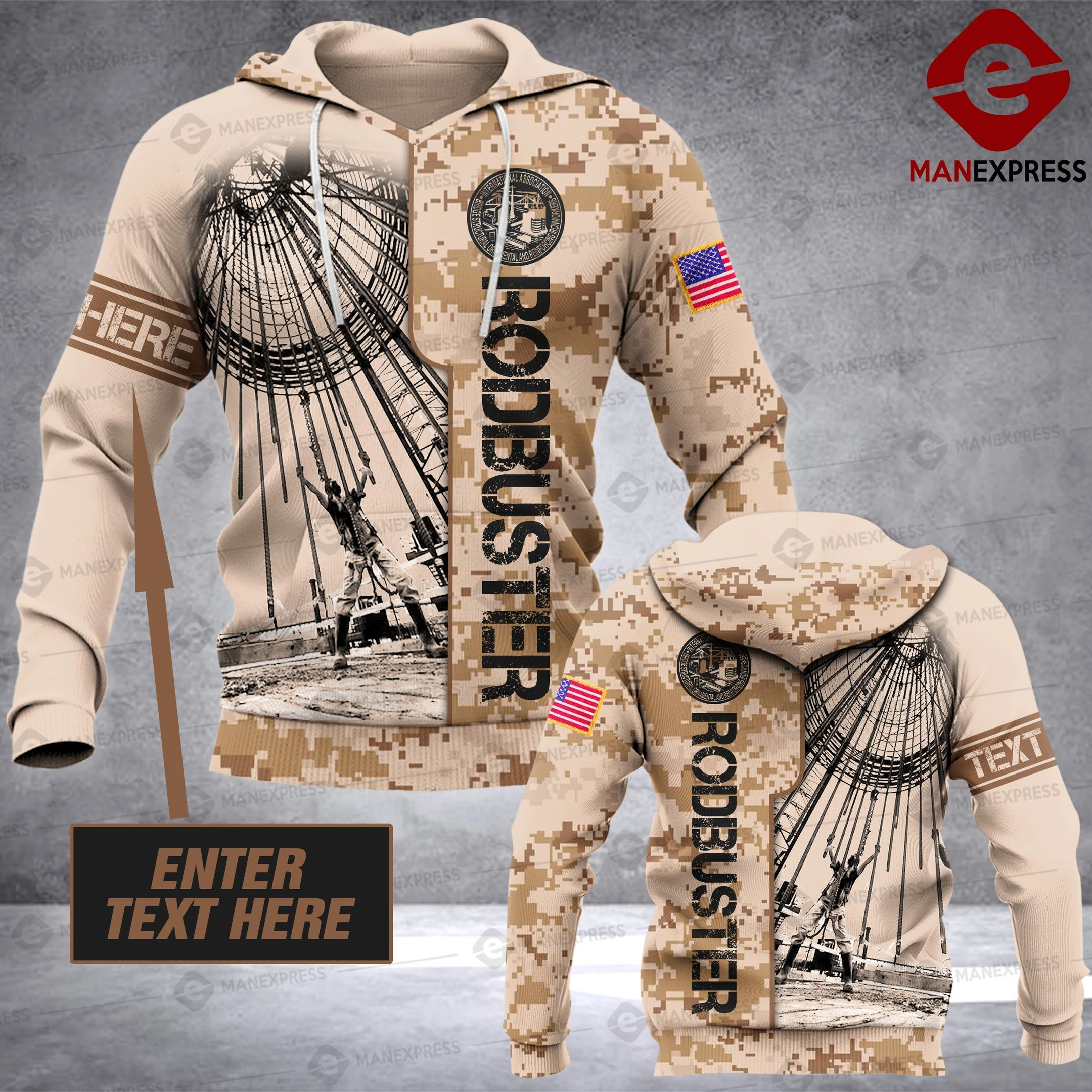 Rodbuster half camo Personalized 3D printed hoodie AWP
