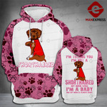LMT SHORTHAIRED BABY 3D PRINTED HOODIE HVQ1402