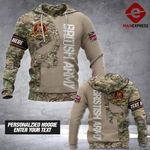 LKH Camo Army UK Personalized 3d Printed HOODIE