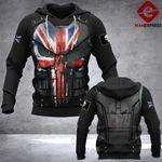 UK Police Punisher Armor LMT 3D printed hoodie 1802