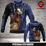 Personalized Clydesdale 3D printed hoodie WFL