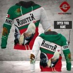 Personalized Mexico Rooster 3D printed hoodie DJW