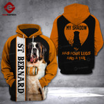 St. Bernard 3D printed hoodie MFL
