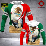 CUSTOMIZE ROOSTER MEXICO FLAG 3D PRINT HOODIE NV1102