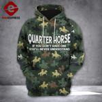 QUARTER HORSE HOODIE NEW DESIGN 1802 DH