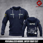 Soldier Oakland PD personalized 3d Printed HOODIE TT