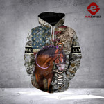Clydesdale Horse 3D printed hoodie MAZ