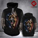LKH German Shepherd Flag Hoodie