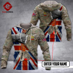 CUSTOMIZED BRITISH ARMY HOODIE 3D 1802 DH